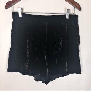 Aritzia Shorts - Aritzia T. Babaton Black Velvet Shorts